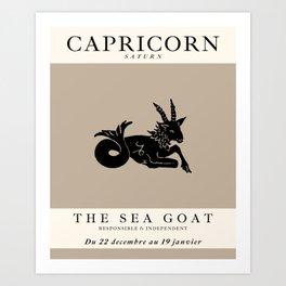 Minimalist Capricorn Art Print