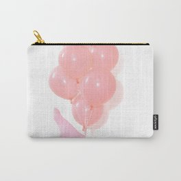 Pink Balloons tied to a girls leg Carry-All Pouch