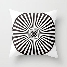 Trippy Bullseye Throw Pillow