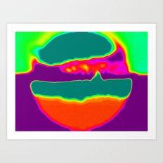 Psychedelic Hamburger Art Print