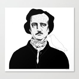 Persistence of Poe Canvas Print