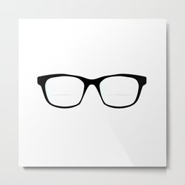Pair Of Optical Glasses Metal Print