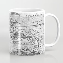 Vintage Map of the Caribbean (1732) BW Coffee Mug