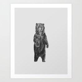 Standing Bear Art Print