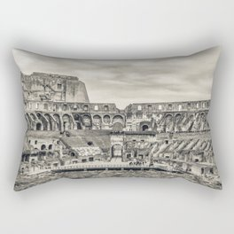Roman Coliseum Panoramic Interior View, Rome, Italy Rectangular Pillow