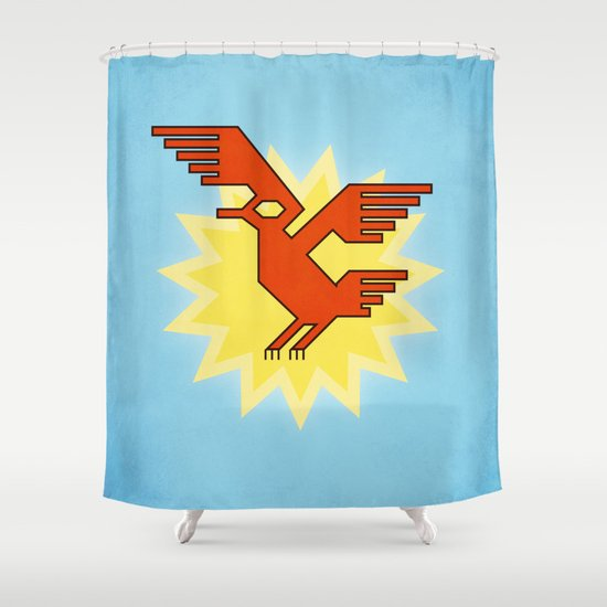 Geometric Andean Condor Bird Shower Curtain