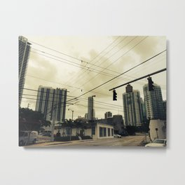 Low Wire Metal Print