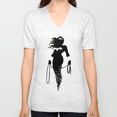 justice Silhouette #4 Unisex V-Neck