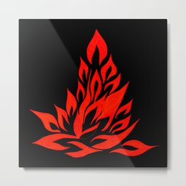 fire meditation pose Metal Print