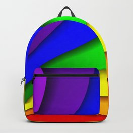 GAY RAINBOW COLOR SWATCH. Backpack