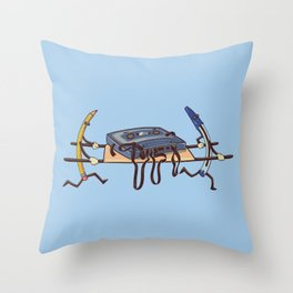 Cassette Rescue Throw Pillow