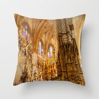 ornate Throw Pillows featuring Ornate by John Hinrichs
