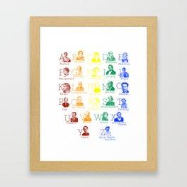 Alphabet of Literary Greats - Rainbow Framed Art Print