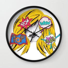 365 cabelos - pop art Wall Clock