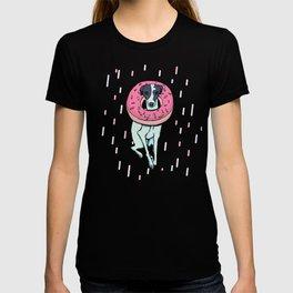 Iggy with a Doughnut - Italian Greyhound - Sweet - Sprinkles T-shirt