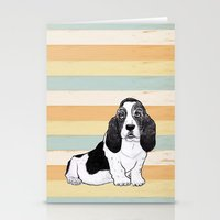 the hound Stationery Cards featuring Basset Hound by Tammy Kushnir