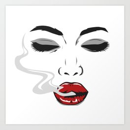 Smokey eyes Art Print