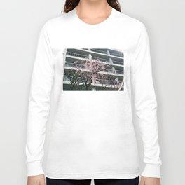 Cherry Blossom Balcony Long Sleeve T-shirt