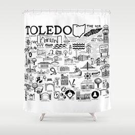 Toledo Ohio Shower Curtain