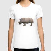 rhino T-shirts featuring Rhino by Mel Hampson