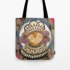 Regal Cat Lady of the Fall Harvest Moon Tote Bag
