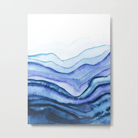 Washed Away Watercolor Metal Print