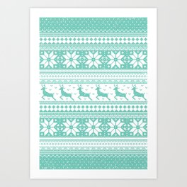 Reindeer Sweater Art Print