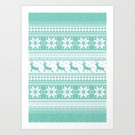 Reindeer Sweater Art Print
