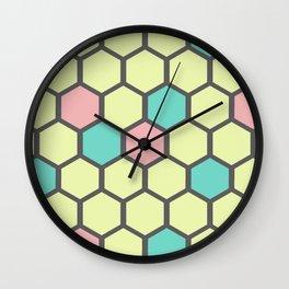 gelato honeycomb Wall Clock