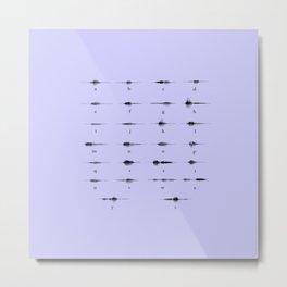 morse code Metal Print
