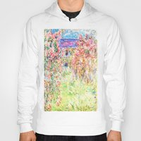 monet Hoodies featuring MONET : The House Among the Roses  by PureVintageLove