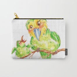 Kakapo and chick Carry-All Pouch