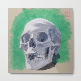 Toothless Skull Metal Print