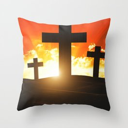 Good friday easter ressurection Throw Pillow