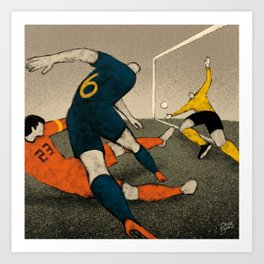 History of Football - 2010 Art Print