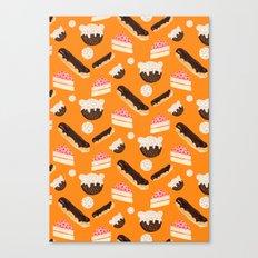 sweet things (on orange) Canvas Print