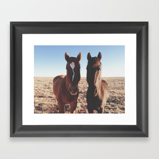 Horse Friends Framed Art Print