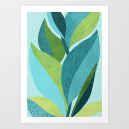Toward The Light / Abstract Botanical Art Print