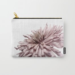 Zinnia Dusty Pink Flower Carry-All Pouch
