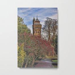 Cardiff Clock Tower. Metal Print