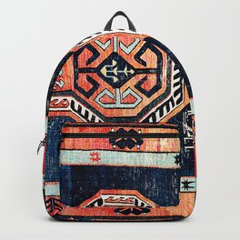 Davagin  Antique Daghestan East Caucasus Kilim Print Backpack