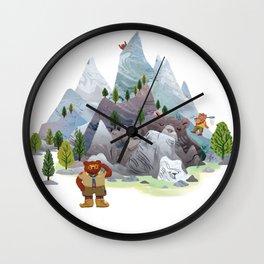 Bear troop Wall Clock