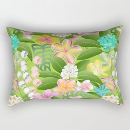 Tropical Floral Plumeria Paradise Rectangular Pillow