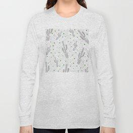 Cactus Polka Dots Pattern Long Sleeve T-shirt