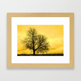 A glow over Sheriff Hutton Framed Art Print