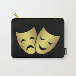 Theater masks: happy and sad faces Carry-All Pouch