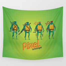 Ninja Turtles - Pixel Nostalgia Wall Tapestry