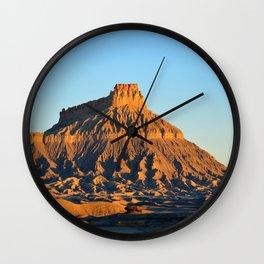 Factory Butte Utah Wall Clock