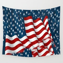 "ORIGINAL  AMERICANA FLAG ART ""STARS N' BARS"" PATTERNS Wall Tapestry"