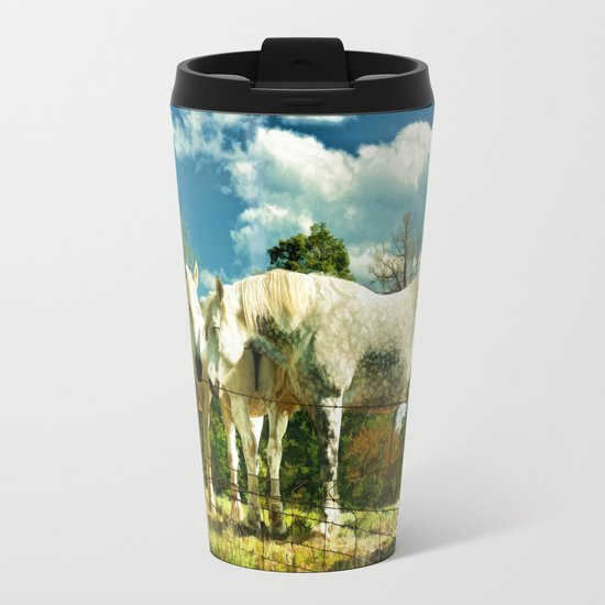 Amish work horses Travel Mug